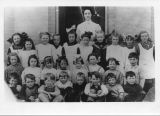 Woodstock school class including Ann Wheeler, James Melvin Atkinson